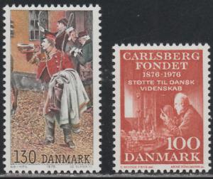 Denmak 1976 SC# 590, 592 - Postilion - Emil Chr. Hansen - M-H Lot # 038