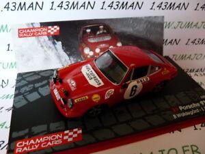 RF7M 1/43 IXO Rallye Finlande PORSCHE 911 s Waldegard 1970 winner Monte Carlo