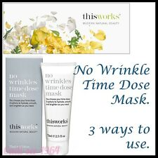 This Works No Wrinkles Time Dose Mask Anti Wrinkle Face Mask & Free sample NEW