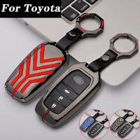 Zinc Alloy Car Key Cover Fob Case Holder For Toyota RAV4 Hilux Highlander Camry~