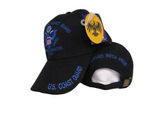 Black Semper Paratus 1790 US Coast Guard Retired Served with Pride Hat Ball Cap