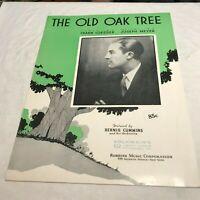 Sheet027  Sheet Music Piano The Old Oak Tree Bernie Cummins On Cover