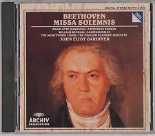 BEETHOVEN: Missa Solemnis GARDINER Archiv DGG Full Silver USA NM CD