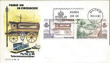 SPD FDC Primer dia España Museo Postal Edifil# 2637/2638 1981