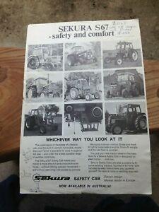 Vintage Sekura tractor cabin sales leaflet circa 1972