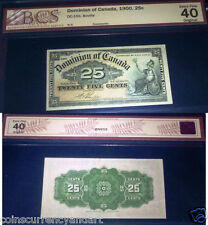 1900  CANADA SHINPLASTER 25¢   Dominion of CANADA -Twenty Five Cents