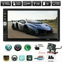 """7"""" Inch DOUBLE 2DIN Car MP5 Player BT Tou+ch Screen Stereo Radio HD+Free Camera"""