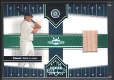 CHRIS SNELLING 2005 DONRUSS CHAMPIONS IMPRESSIONS MARINERS GAME USED BAT SP $15