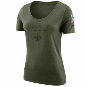Nike NFL New Orleans Saints Salute to Service Womens Shirt Sz Large 938809 395