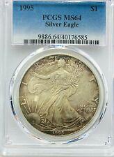 1995 $1 Silver Eagle PCGS MS64