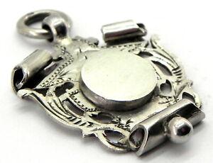 Antique Solid Silver Fob Medal, Birmingham 1901, By Wm Hair Haseler