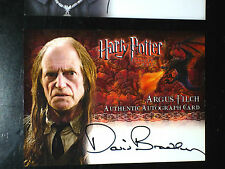 HARRY POTTER GOBLET OF FIRE RARE AUTOGRAPH CARD DAVID BRADLEY AS ARGUS FLICH GOF