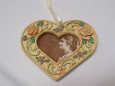 "NWOT MIDWEST Victorian Rose HEART 4"" Photo Frame Valentine Christmas Ornament"