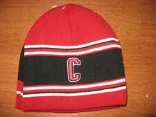2 Mens Teen Boys Colosseum Chicago Bulls Colors Red Black Beanie Skull Knit Hat