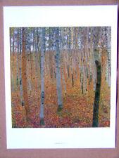 Gustav KLIMT - La forêt de hêtres, dimensions: 36-28 cm