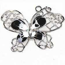 5pcs Hot Butterfly Black&White Enamel Alloy Pendant Fit Jewelry Necklace DIY L