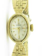 Vintage Omega 14k Solid Yellow Gold Ladies Estate Wind Up Wrist Watch Gift