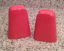 BRANCHELL Melmac ROYALE Pattern SALT & PEPPER SHAKERS Set ~ FLAME PINK Color