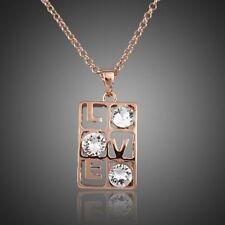 18K Gold GP Made With SWAROVSKI Element Crystal Necklace