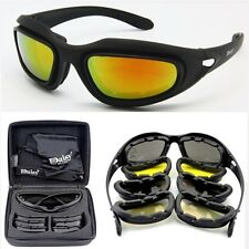 Tactical Sun Glasses Kit Shooting Sport Safety Polarized 4 Lens Goggles Black