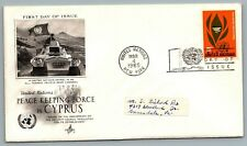 United Nations 1965 FDC First Day of Issue 5 cents Peace Keeping Force in Cyprus
