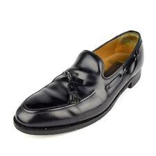 Johnston & Murphy Men's Loafer Sz 9.5 D/B Black Leather Tassel Boat Casual Shoe
