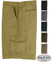 Big & Tall Men's Expandable Waist Cargo Shorts by Full Blue Sizes 42 - 72