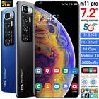 "M11 Pro 7.2"" Face Id Fingerprint Smartphone Android10.0 3+32gb 5600mah Phone Au"