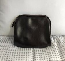 Gucci Brown Make Up Cosmetics Travel Clutch Bag Purse Wallet Italy