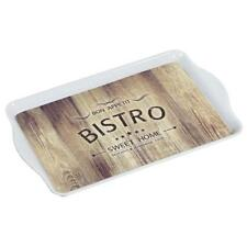 Tablett, Serviertablett BISTRO aus Melamin 48x30cm, weiß beige, eckig, Kesper