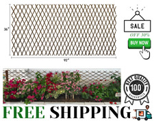 Expandable Garden Trellis Plant Support Willow Lattice Fence Panel For Climbing