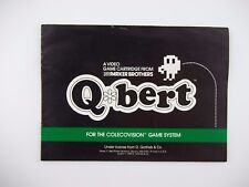 Q-BERT QBERT Coleco for Colecovision, Instruction Manual ONLY
