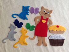 """""""The 3 kittens"""" Children story flannel board/ felt set"""