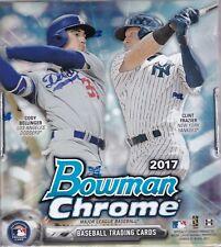 2017 Bowman Chrome Baseball Hobby Box Factory Sealed