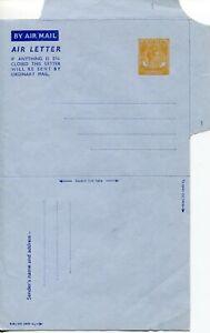 SINGAPORE 1951 KGVI 25c AIR LETTER TAN 1 MINT
