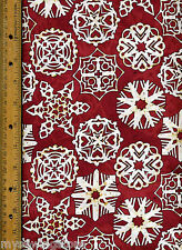 Xmas Tradition 21599-M Quilt Quilting Fabric by half yard Christmas Snowflakes R