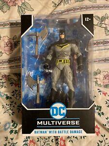 dc multiverse batman with battle damage