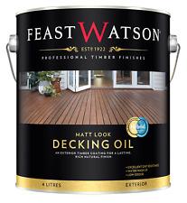 Feast Watson Matt LOOK Decking Oil 4l Lower Sheen Natural LOOK Jarrah*aus BRAND