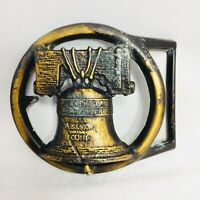 Liberty Bell Western Brass Belt Buckle - Free Shipping
