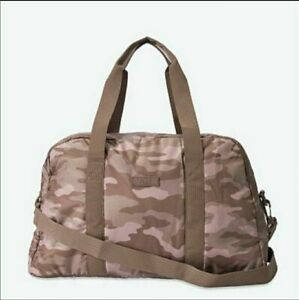 VICTORIAS SECRET PINK BORA BROWN CAMO DUFFLE BAG TOTE WEEKENDER GYM CARRY ON NWT