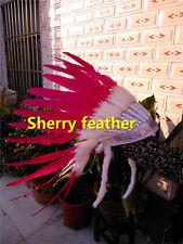 Hot pink indian feather headdress indian war bonnet halloween costume H16016