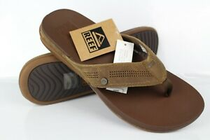 Reef Men's Cushion Bounce Lux Flip Flop Sandals Size 11 Toffee