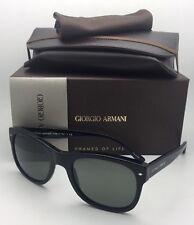 New GIORGIO ARMANI Sunglasses AR 8008 5017/58 54-20 Black Frame with Grey Lenses