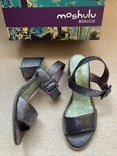Moshulu 'Flash' Heeled Silver Grey Sandals Size 5 / 38EU New 👡⭐️⭐️⭐️⭐️⭐️