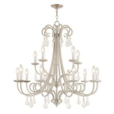 Livex Lighting Daphne 15 Light Foyer Chandelier in Brushed Nickel - 40879-91
