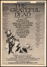 THE GRATEFUL DEAD__Orig. 1977 Trade AD / concert film promo_poster__JERRY GARCIA
