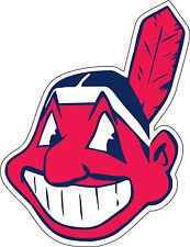 "Cleveland Indians MLB Baseball Bumper sticker, wall decor, vinyl decal, 5""x 4"""