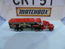 MATCHBOX CONVOY PRE PRODUCTION DECAL PETERBILT JIM BEAM RED BOX & CAB EXEMPLOYEE