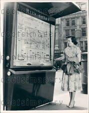 1954 British Teen by London Street Guide Press Photo