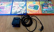 PS2 Eye Toy & 4 PS2 Games Bundle Groove, Eyetoy Play 2, 3 & Sports